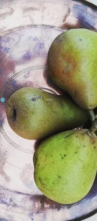 Poached pears with cardamom