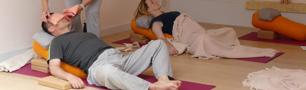 yin yoga session