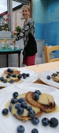 oat and banana pancakes